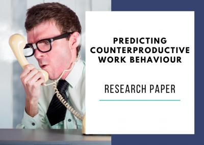 HEXACO personality predicts counterproductive work behavior