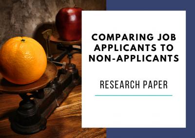 Comparing Job Applicants to Non-Applicants – HEXACO