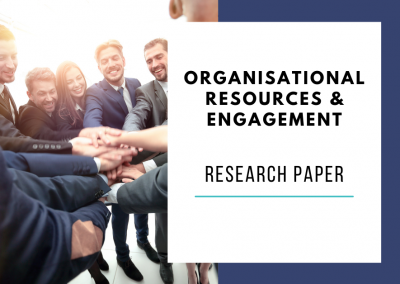 Organisational resources, organsational engagement climate & employee engagement