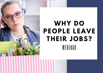 Why Do People Leave Their Jobs?